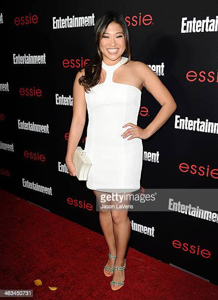 Actress Jenna Ushkowitz attends the Entertainment Weekly SAG Awards preparty at Chateau Marmont on January 17 2014 in Los Angeles California