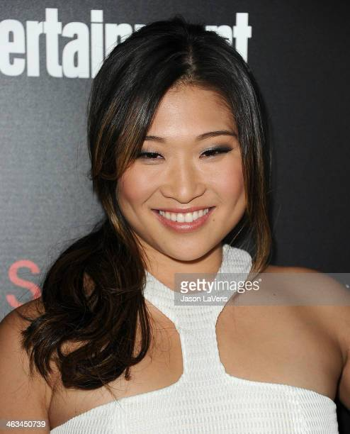 Actress Jenna Ushkowitz attends the Entertainment Weekly SAG Awards pre-party at Chateau Marmont on January 17, 2014 in Los Angeles, California.
