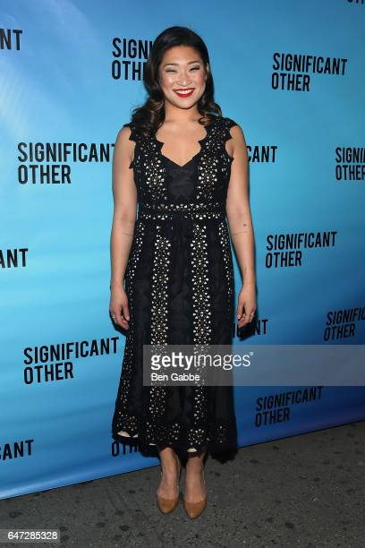 "Actress Jenna Ushkowitz attends the ""Significant Other"" Opening Night Premiere at Booth Theatre on March 2, 2017 in New York City."