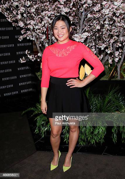 Actress Jenna Ushkowitz celebrates the year of the horse with New Year wishes on the enchanting wishing tree at The Beverly Center on February 4,...