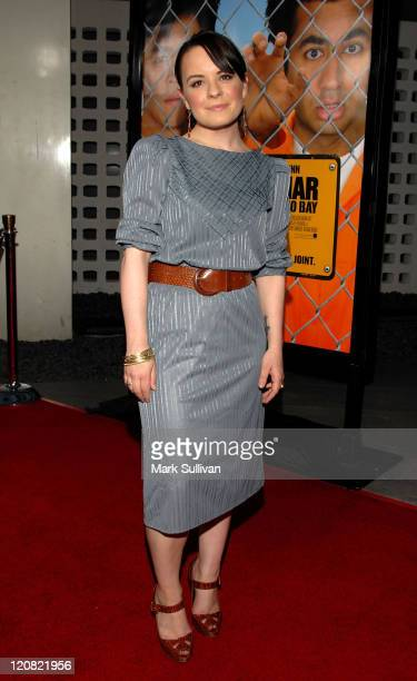 Actress Jenna von Oÿ arrives at Harold and Kumar Escape from Guantanamo Bay Premiere on April 17 2008 at the Arclight Cinerama Dome in Hollywood...