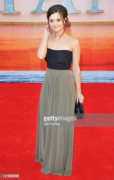 Actress JennaLouise Coleman attends the 'Titanic 3D' world premiere at the Royal Albert Hall on March 27 2012 in London England