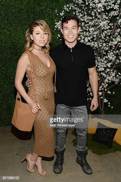 Actress Jennette McCurdy and guest attend the alice olivia by Stacey Bendet and Neiman Marcus present SeeNowBuyNow Runway Show at NeueHouse Los...