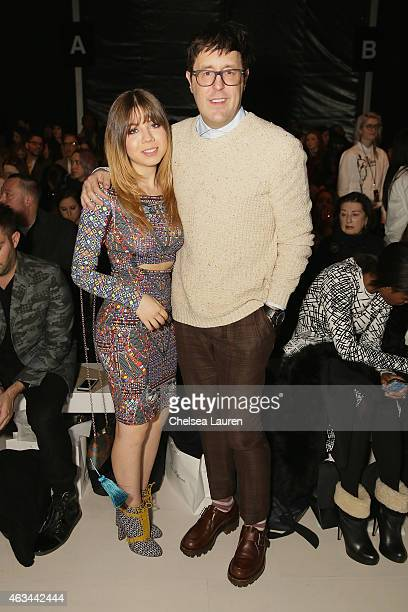 Actress Jennette McCurdy and Teen Vogue Style Features Director Andrew Bevan attend the Mara Hoffman fashion show during MercedesBenz Fashion Week...