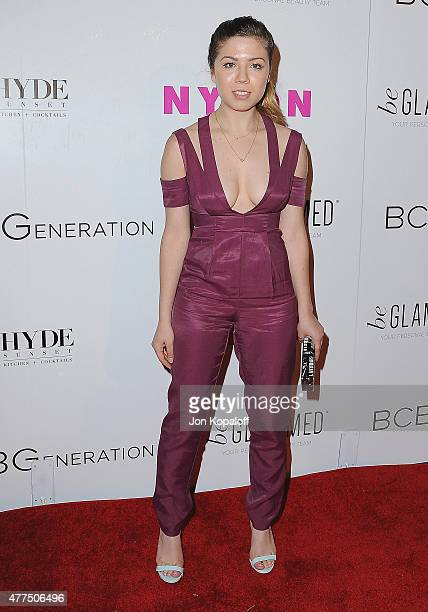 Actress Jennette McCurdy arrives at NYLON Magazine And BCBGeneration Annual May Young Hollywood Issue Party Hosted By May Cover Star Dakota Fanning...