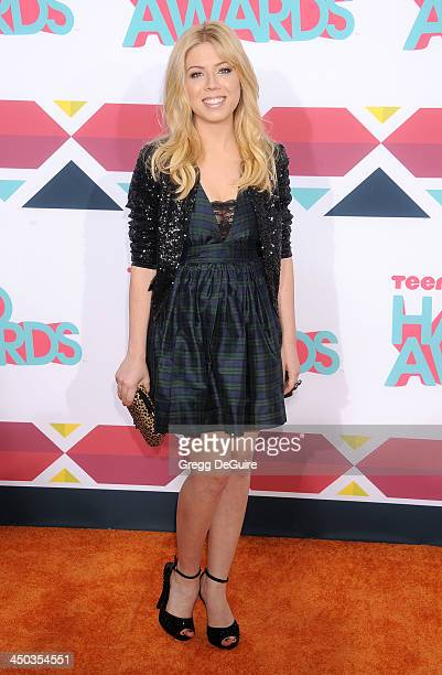Actress Jennette McCurdy arrives at the 2013 TeenNick HALO Awards at the Hollywood Palladium on November 17, 2013 in Hollywood, California.