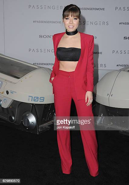 Actress Jennette McCurdy arrives at the Los Angeles Premiere Passengers at Regency Village Theatre on December 14 2016 in Westwood California
