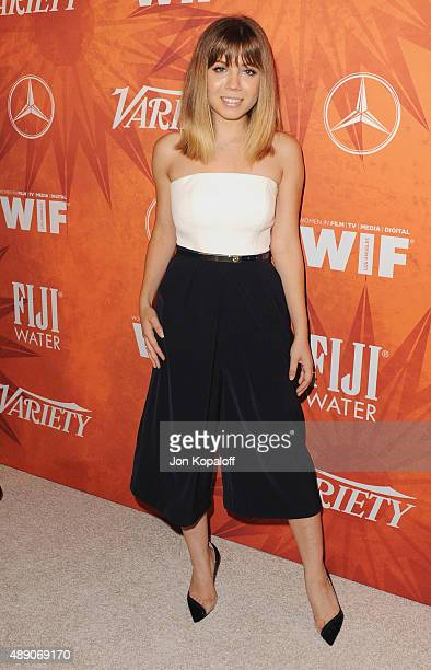 Actress Jennette McCurdy arrives at the Variety And Women In Film Annual PreEmmy Celebration at Gracias Madre on September 18 2015 in West Hollywood...