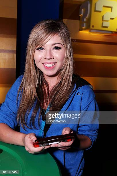 Actress Jennette McCurdy attends Nintendo's celebration of the launch of Super Mario 3D Land at Siren Studios on November 3 2011 in Hollywood...
