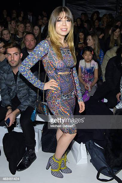Actress Jennette McCurdy attends the Mara Hoffman show during MercedesBenz Fashion Week Fall 2015 at The Salon at Lincoln Center on February 14 2015...