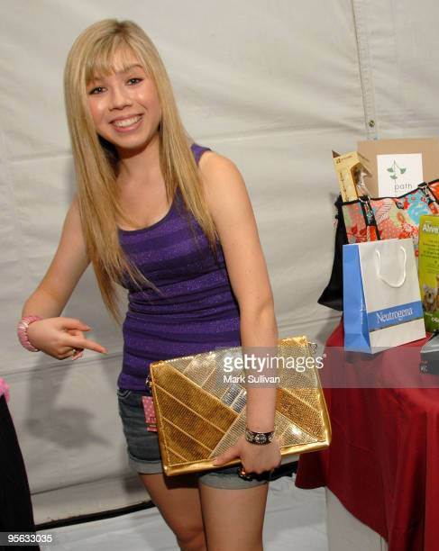 Actress Jennette McCurdy in the BOPIT Celebrity Retreat produced by Backstage Creations at Gibson Amphitheatre on August 8 2009 in Universal City...