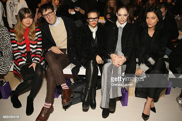 Actress Jennette McCurdy Teen Vogue Style Features Director Andrew Bevan Veronica Chu model Coco Rocha and DJ Leigh Lezark attend the Noon By Noor...