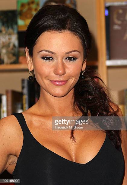 Actress Jenni 'JWoWW' Farley attends the book signing for her book 'The Rules According to JWoWW' at Borders Books and Music on February 15 2011 in...