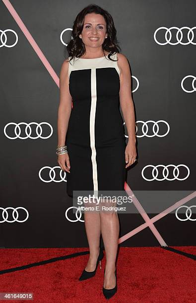 Actress Jenni Pulos arrives to Audi Celebrates Golden Globes Weekend at Cecconi's Restaurant on January 9 2014 in Los Angeles California