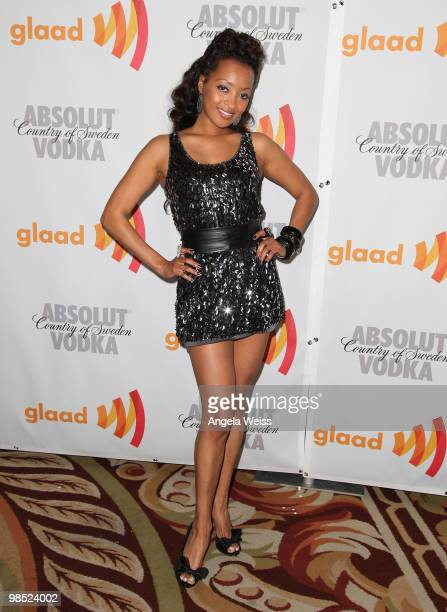 Actress Jennia Fredrique arrives at the 21st Annual GLAAD Media Awards held at Hyatt Regency Century Plaza on April 17 2010 in Century City California