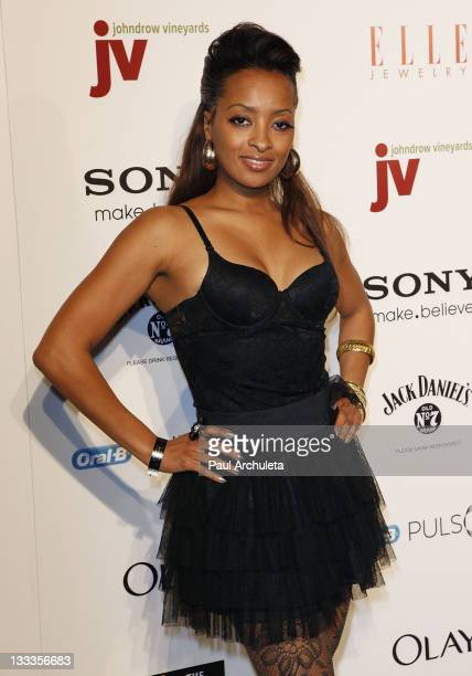 Actress Jennia Fredrique arrives at The Golden Trailer Awards at Andaz Hotel on March 5 2010 in West Hollywood California