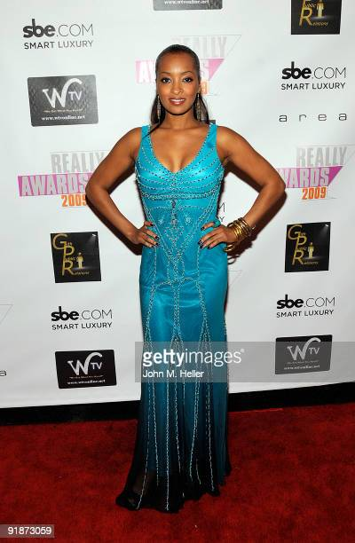 Actress Jennia Fredrique attends the 2009 Really Awards official after party at Area on October 13 2009 in Los Angeles California