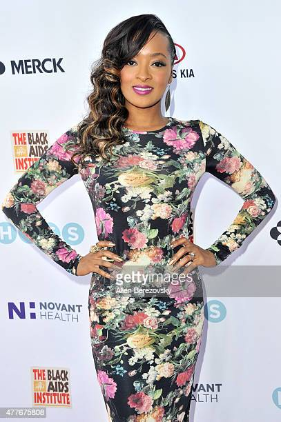 Actress Jennia Fredrique attends the Black AIDS Institute 2015 Heroes in the Struggle Reception Gala and Awards Ceremony at Directors Guild Of...