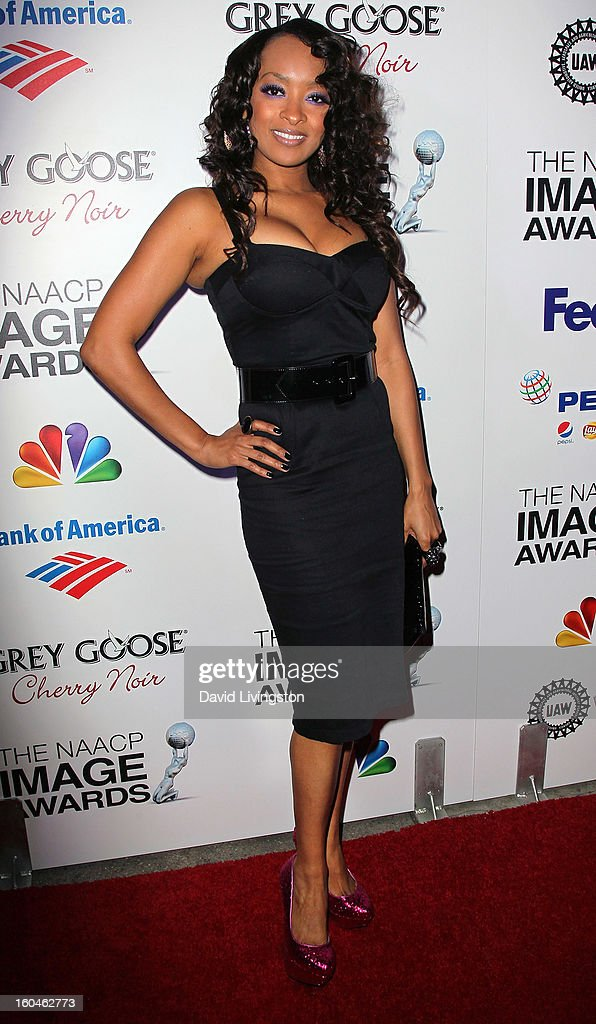 Actress Jennia Fredrique attends the NAACP Image Awards Pre-Gala at Vibiana on January 31, 2013 in Los Angeles, California.