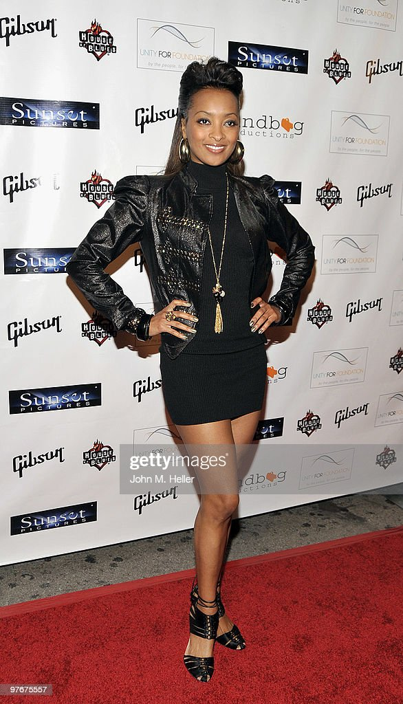 Actress Jennia Fredrique attends the 'Unity For Peace' Benefit Concert at the House Of Blues on March 12, 2010 in Los Angeles, California.