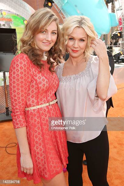 Actress Jennie Garth and daughter Luca Bella Facinelli arrives at Nickelodeon's 25th Annual Kids' Choice Awards held at Galen Center on March 31 2012...