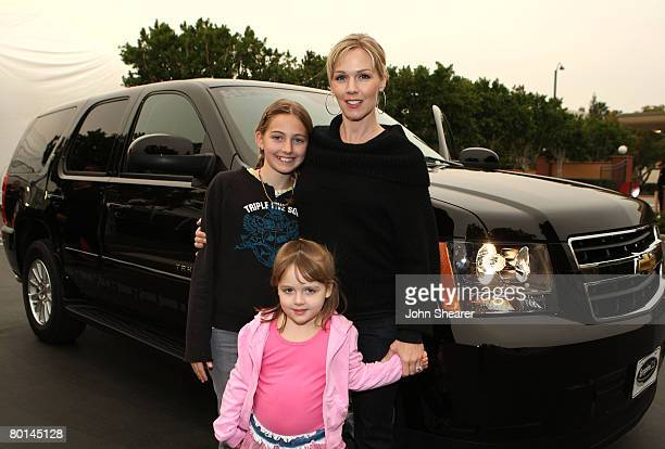 Actress Jennie Garth and daughters arrives at Chevy Rocks The Future at the Buena Vista Lot at The Walt Disney Studios on February 19 2008 in Burbank...