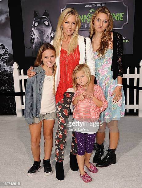 Actress Jennie Garth and daughters Fiona Eve Facinelli Luca Bella Facinelli and Lola Ray Facinelli attend the premiere of Frankenweenie at the El...