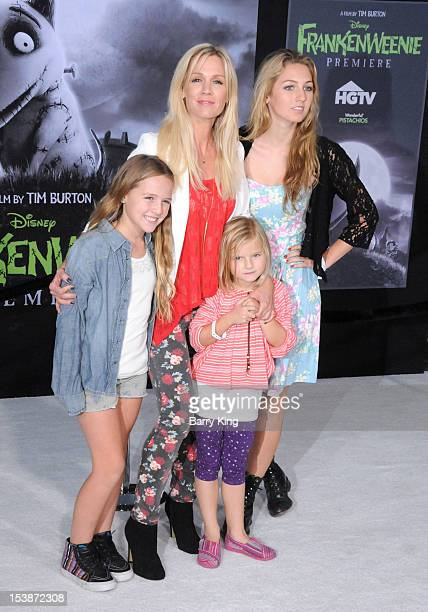 Actress Jennie Garth and daughters Fiona Eve Facinelli Luca Bella Facinelli and Lola Ray Facinelli attend the premiere of 'Frankenweenie' at the El...
