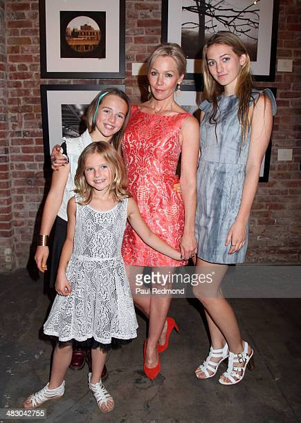 Actress Jennie Garth and daughters Lola Ray Facinelli Luca Bella Facinelli and Fiona Eve Facinelli attend the Jennie Garth Awake opening night artist...
