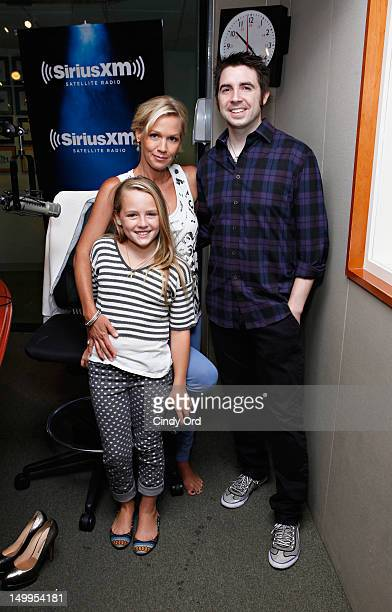 Actress Jennie Garth and her daughter Lola Ray Facinelli visit 'Getting Late' with host Mark Seman on Raw Dog Comedy at the SiriusXM Studios on...