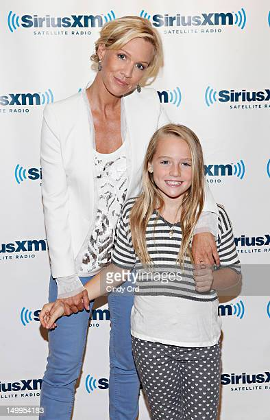 Actress Jennie Garth and her daughter Lola Ray Facinelli visit the SiriusXM Studios on August 7 2012 in New York City