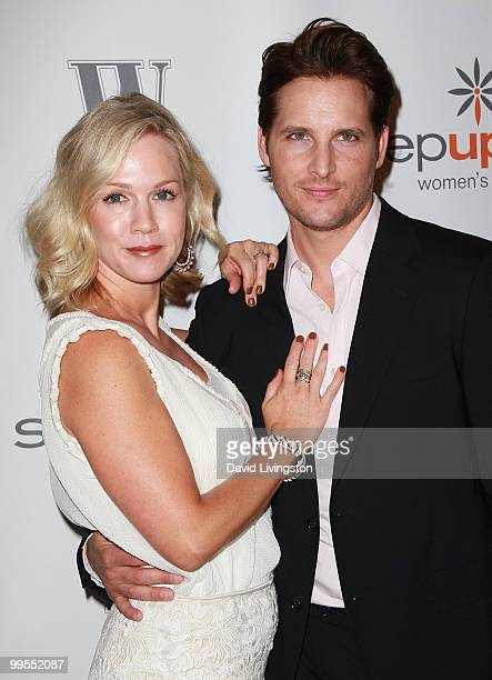 Actress Jennie Garth and husband actor Peter Facinelli attend Step Up Women's Network 7th Annual Inspiration Awards at the Beverly Hilton on May 14...