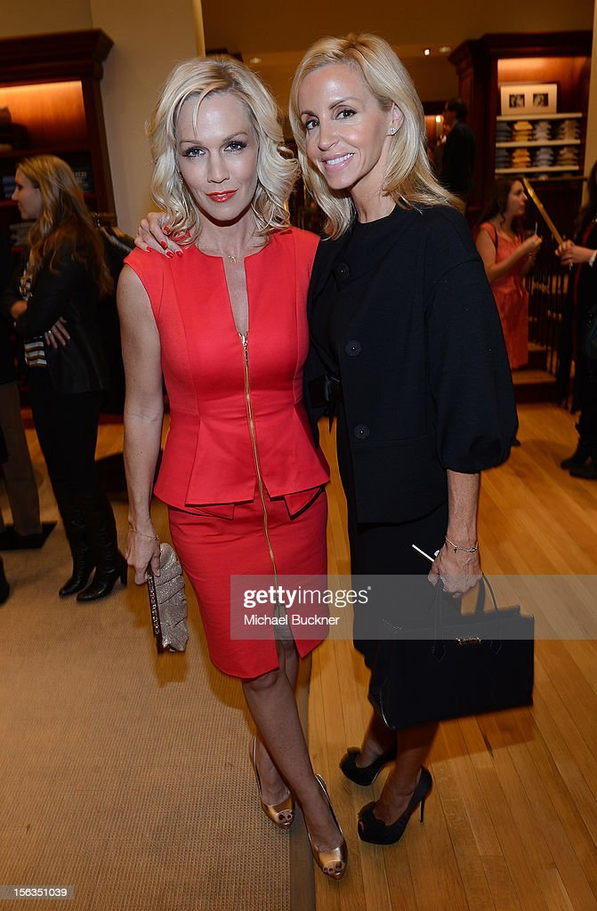 Actress Jennie Garth (L) and reality star Camille Grammer attend the Faconnable Kicks Off The Holidays Shopping Event Benefitting Lollipop Theater Network at Faconnable on November 13, 2012 in Beverly Hills, California.