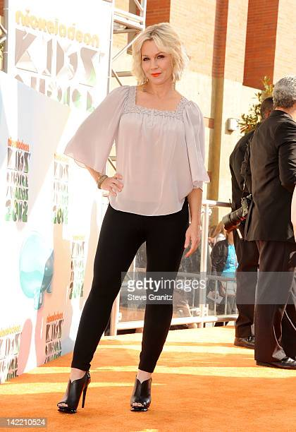 Actress Jennie Garth arrives at Nickelodeon's 25th Annual Kids' Choice Awards held at Galen Center on March 31 2012 in Los Angeles California