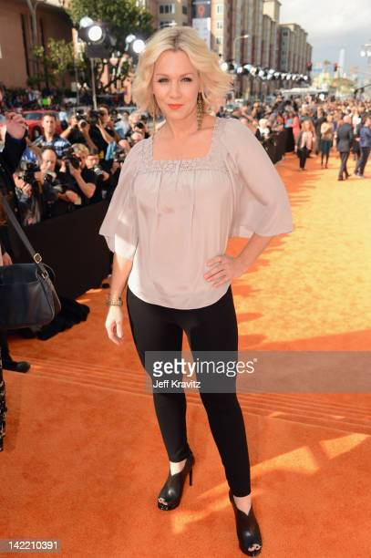 Actress Jennie Garth arrives at the 2012 Nickelodeon's Kids' Choice Awards at Galen Center on March 31 2012 in Los Angeles California