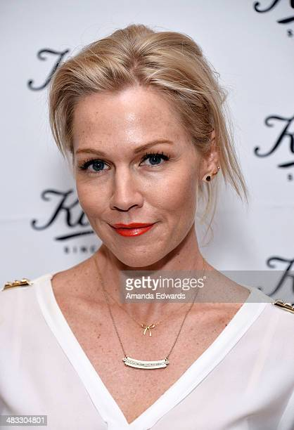 Actress Jennie Garth arrives at the Recycle Across America benefit event at the Kiehl's Since 1851 Santa Monica Store on April 7 2014 in Santa Monica...