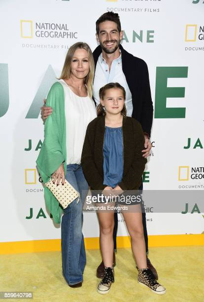 Actress Jennie Garth Dave Abrams and Fiona Eve Facinelli arrive at the premiere of National Geographic Documentary Films' Jane at the Hollywood Bowl...