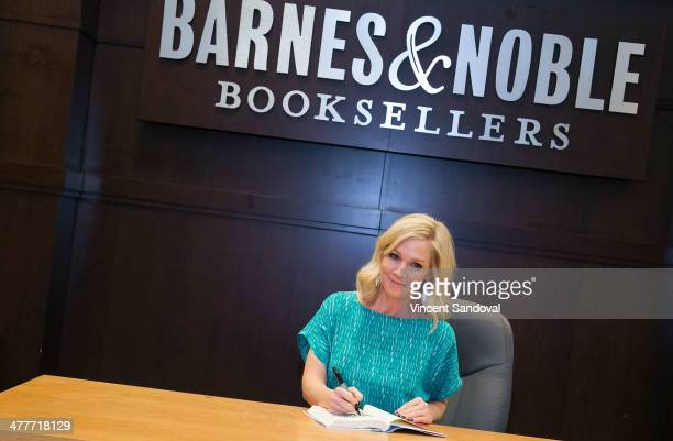 Actress Jennie Garth signs copies of her new book 'Deep Thoughts From A Hollywood Blonde' at Barnes Noble bookstore at The Grove on March 10 2014 in...