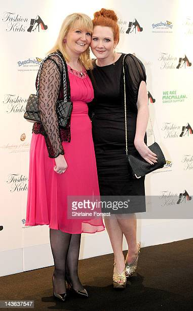 Actress Jennie McAlpine and guest attend Fashion Kicks in aid of Macmillan Cancer Support Beechwood Cancer Care Centre Stockport and the Chefs Adopt...