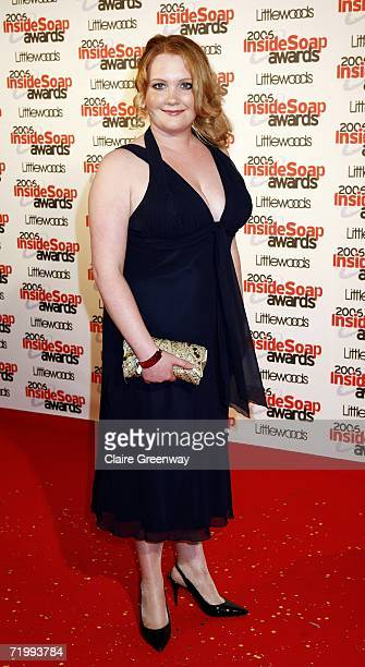 Actress Jennie McAlpine arrives at the Inside Soap Awards 2006 at Floridita on September 25 2006 in London England