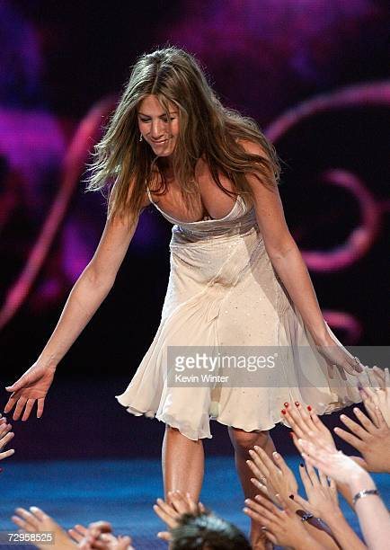 Actress Jennifer Aniston accepts the award for Favorite Female Movie Star onstage during the 33rd Annual People's Choice Awards held at the Shrine...