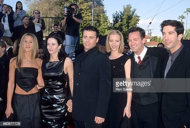 Actress Jennifer Aniston actress Courteney Cox actor Matt LeBlanc actress Lisa Kudrow actor Matthew Perry and actor David Schwimmer attend the Fifth...