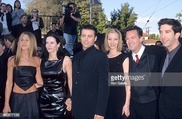 Actress Jennifer Aniston, actress Courteney Cox, actor Matt LeBlanc, actress Lisa Kudrow, actor Matthew Perry and actor David Schwimmer attend the...