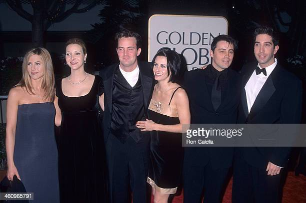 Actress Jennifer Aniston actress Lisa Kudrow actor Matthew Perry actress Courteney Cox actor Matt LeBlanc actor David Schwimmer attend the 55th...