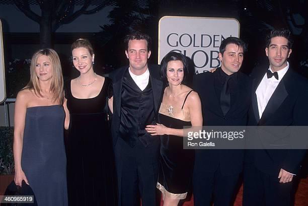 Actress Jennifer Aniston actress Lisa Kudrow actor Matthew Perry actress Courteney Cox actor Matt LeBlanc actor David Schwimmer attend the 55th...