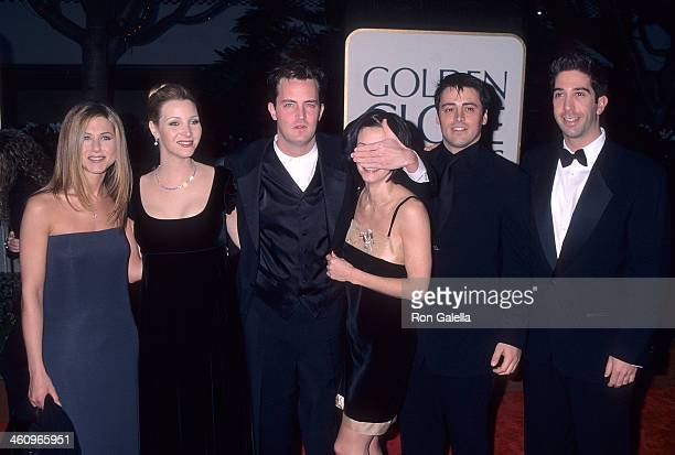Actress Jennifer Aniston, actress Lisa Kudrow, actor Matthew Perry, actress Courteney Cox, actor Matt LeBlanc, actor David Schwimmer attend the 55th...