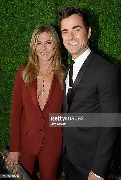 Actress Jennifer Aniston and actor Justin Theroux attend the 20th annual Critics' Choice Movie Awards at the Hollywood Palladium on January 15 2015...