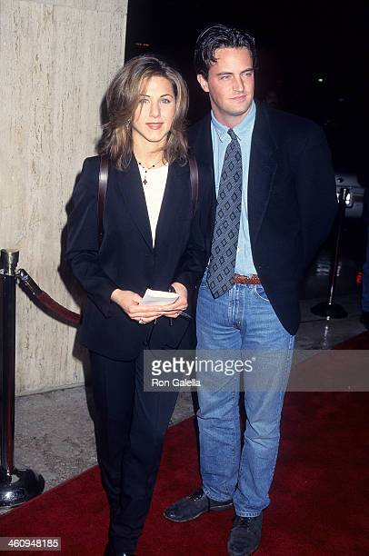 Actress Jennifer Aniston and actor Matthew Perry attend the Screening of the NBC Original Movie 'Serving in Silence The Margarethe Cammermeyer Story'...