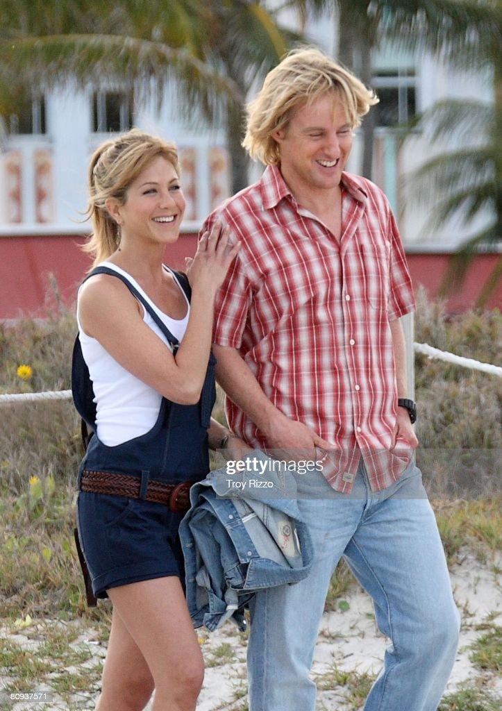 Jennifer Aniston And Owen Wilson Film Shoot At Cardozo Hotel : Foto jornalística