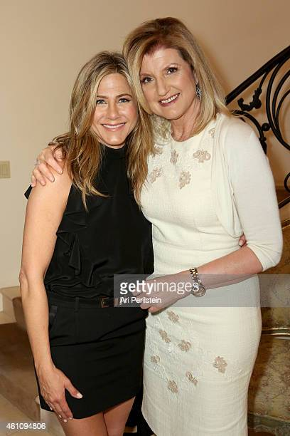 Actress Jennifer Aniston and author Arianna Huffington attend as Arianna Huffington hosts a special lunch at home for Jennifer Aniston to celebrate...
